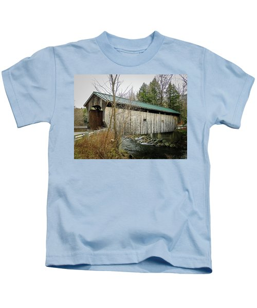 Morgan Covered Bridge Kids T-Shirt