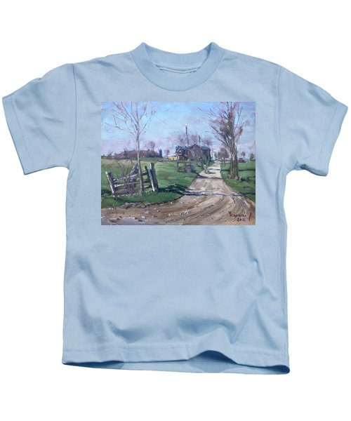 Morning In The Farm Georgetown Kids T-Shirt