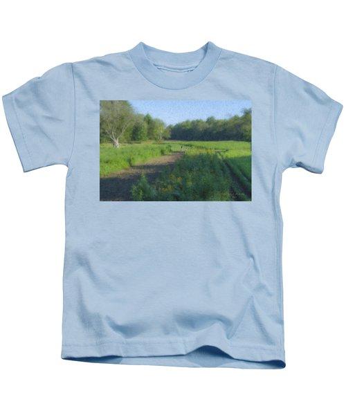 Morning Walk At Langwater Farm Kids T-Shirt