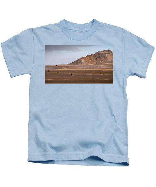 Motorcycles In Persian Desert Kids T-Shirt