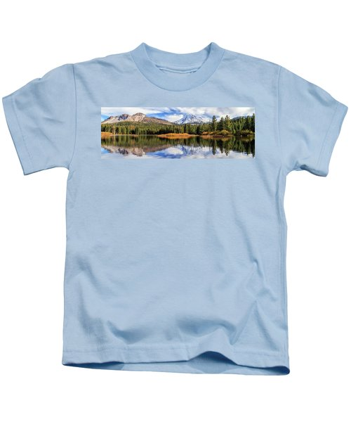 Mount Lassen Reflections Panorama Kids T-Shirt