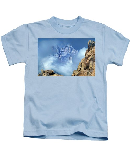 Mount Whitney Clearing Storm Eastern Sierras California Kids T-Shirt