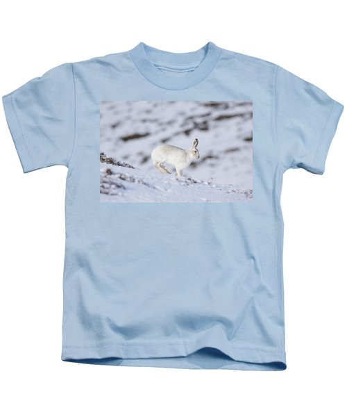 Mountain Hare - Scottish Highlands  #12 Kids T-Shirt