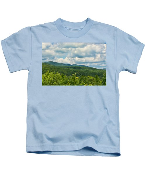 Mountain Vista In Summer Kids T-Shirt