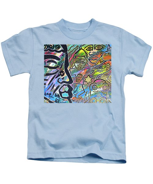 Multi-dimensional Beings Stepping Out The Body Walking Through The Cosmos Kids T-Shirt