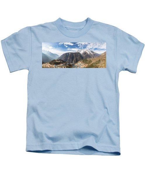 Namche Bazar Panorama Kids T-Shirt
