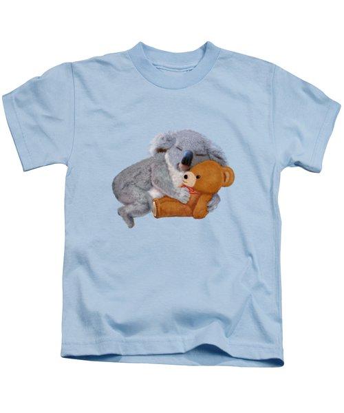 Naptime With Teddy Bear Kids T-Shirt by Glenn Holbrook