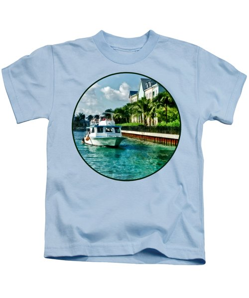 Bahamas - Ferry To Paradise Island Kids T-Shirt