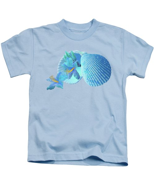 Nature's Gems In A Blue Mood Kids T-Shirt