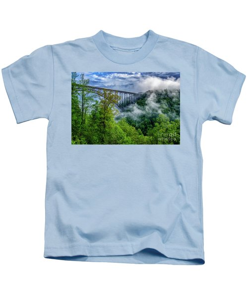 New River Gorge Bridge Morning  Kids T-Shirt