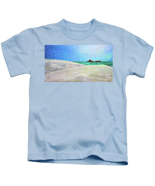 New Smyrna Beach As Seen From A Dune On Ponce Inlet Kids T-Shirt