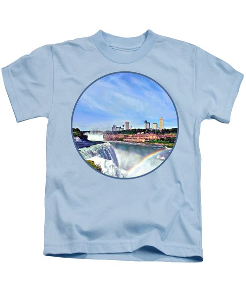 Niagara Falls Ny - Under The Rainbow Kids T-Shirt