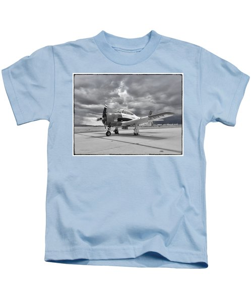 North American T-28 Kids T-Shirt