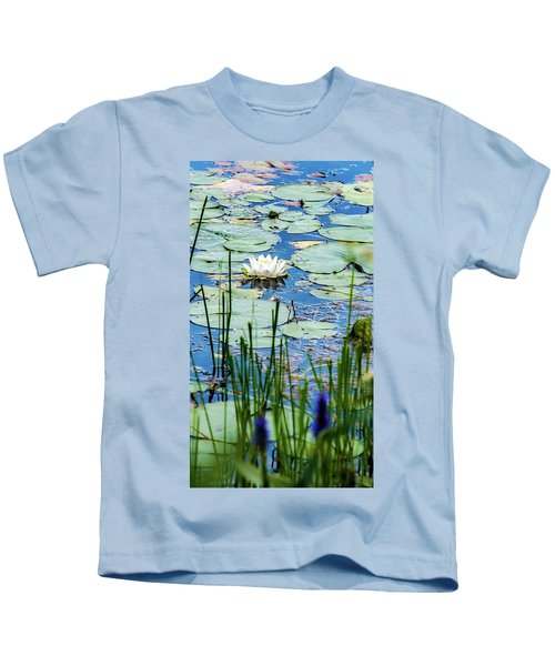 North American White Water Lily Kids T-Shirt