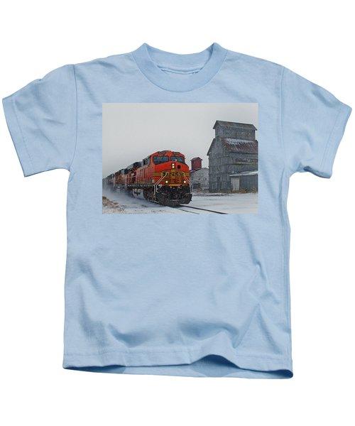 Northbound Winter Coal Drag Kids T-Shirt