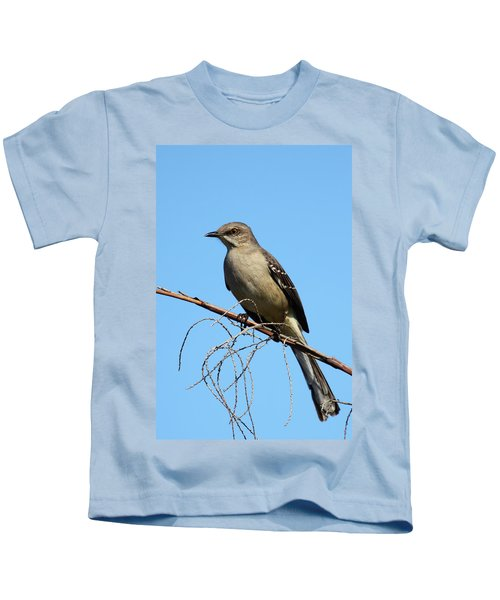 Northern Mockingbird Kids T-Shirt by Bruce J Robinson