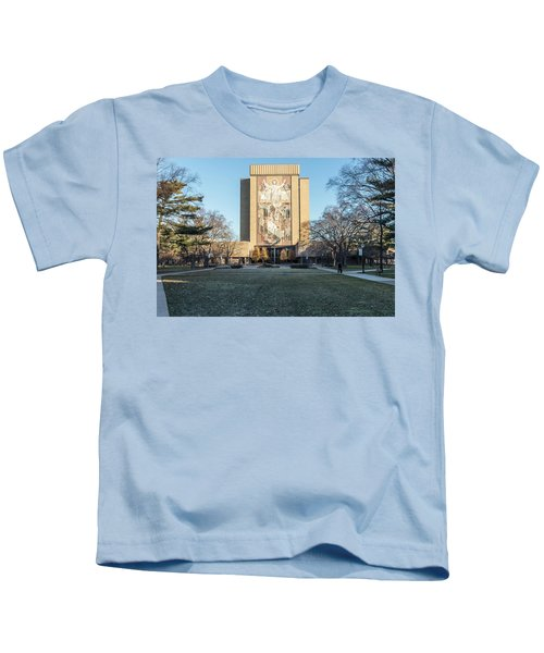 Notre Dame Touchdown Jesus  Kids T-Shirt