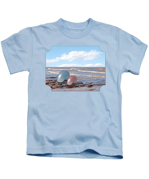 Ocean Love Affair - Nautilus Shells - Square Kids T-Shirt