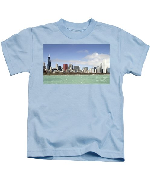 Off The Shore Of Chicago Kids T-Shirt