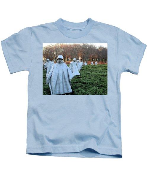 On Patrol The Korean War Memorial Kids T-Shirt