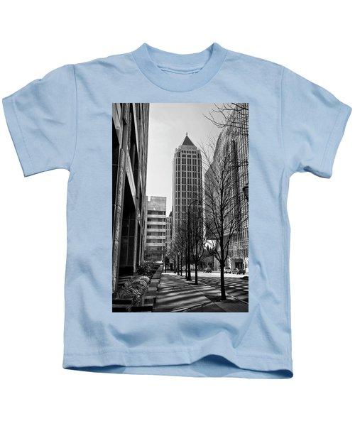 One Atlantic Center In Black And White Kids T-Shirt