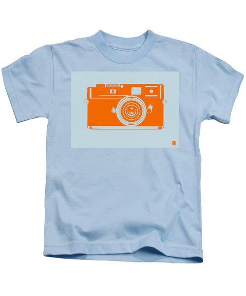 Orange Camera Kids T-Shirt