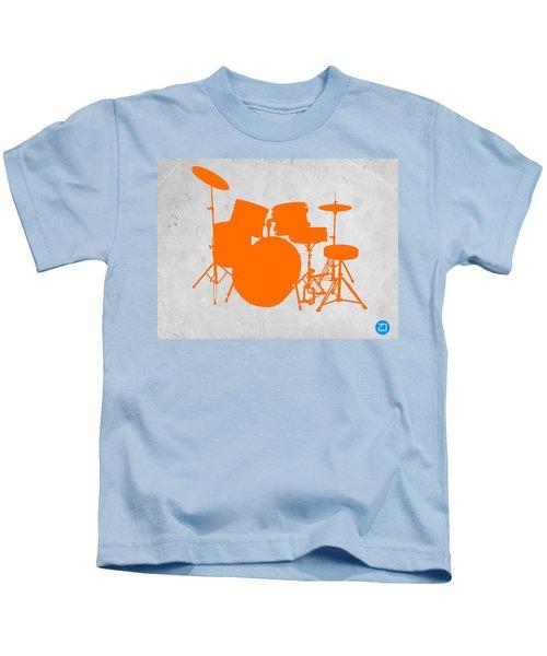 Orange Drum Set Kids T-Shirt