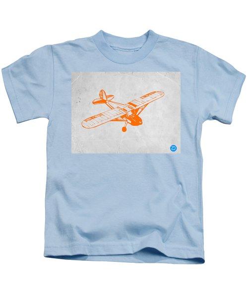 Orange Plane 2 Kids T-Shirt by Naxart Studio