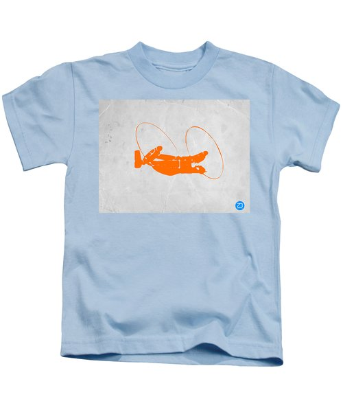 Orange Plane Kids T-Shirt