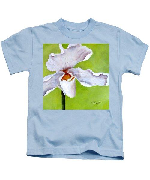 Orchidee Art White Kids T-Shirt