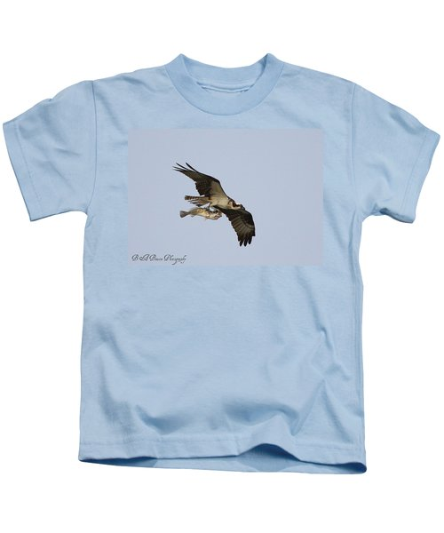 Osprey Catches A Fish Kids T-Shirt