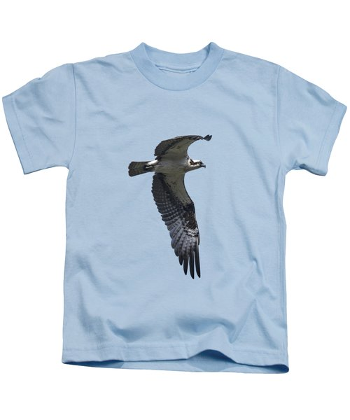 Osprey In Flight 2 Kids T-Shirt by Priscilla Burgers