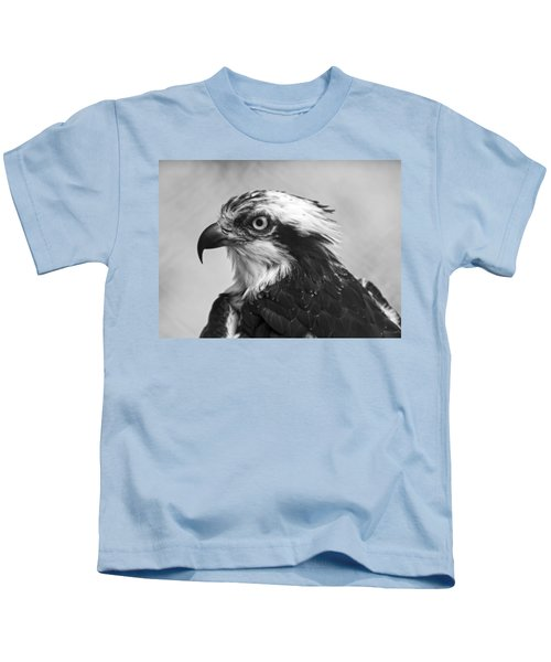 Osprey Monochrome Portrait Kids T-Shirt