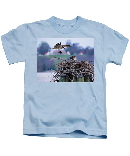 Osprey Nest Building Kids T-Shirt