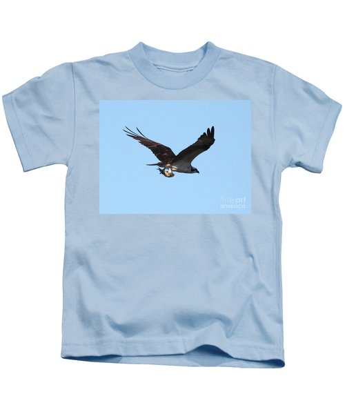 Osprey With Fish Kids T-Shirt by Carol Groenen