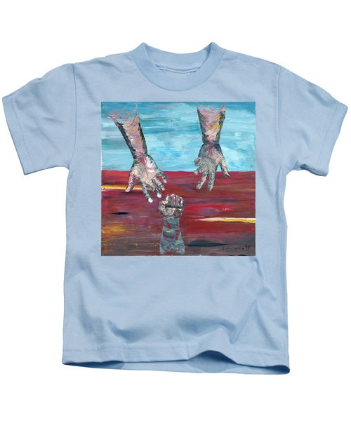 Our Sense Of Peace Is Only As Secure As Our Grasp Of Grace Kids T-Shirt