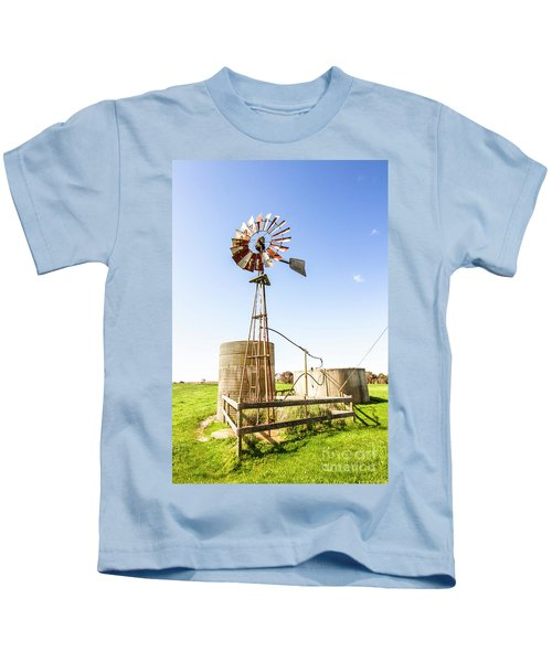 Outback Australian Farm Mill Kids T-Shirt