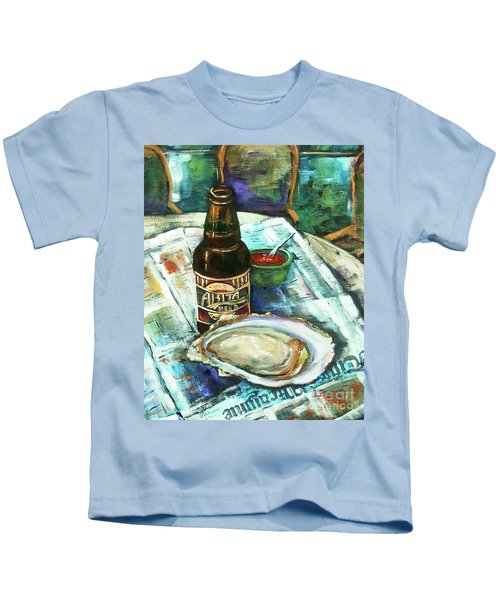 Oyster And Amber Kids T-Shirt