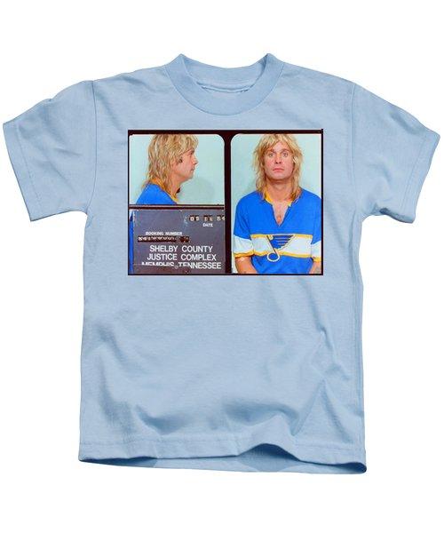 Ozzy Osbourne Mug Shot Color Horizontal Kids T-Shirt