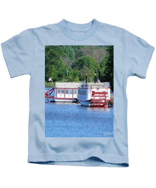 Paddleboat On The River Kids T-Shirt