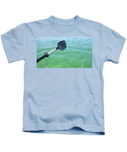 Paddling Grand Traverse Bay Kids T-Shirt