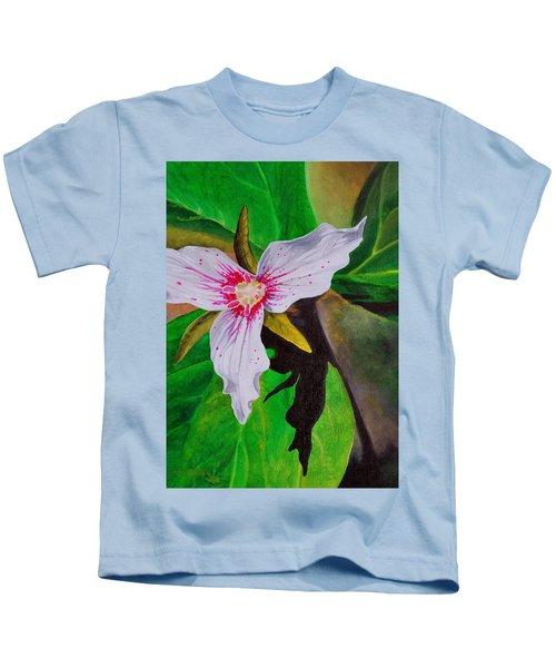 Painted Trillium Kids T-Shirt