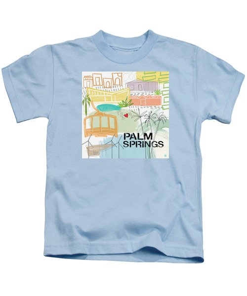 Palm Springs Cityscape- Art By Linda Woods Kids T-Shirt