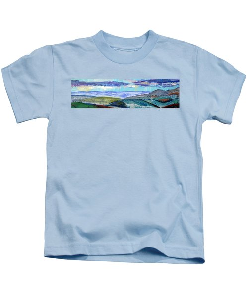Panoramic View From Exeter Of Devon Hills Kids T-Shirt