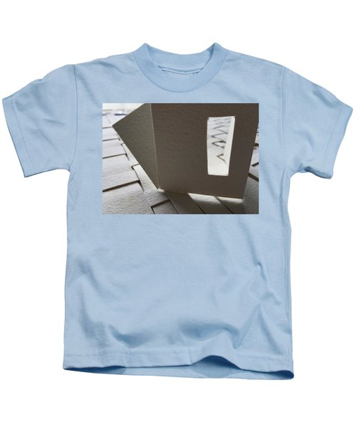 Paper Structure-3 Kids T-Shirt