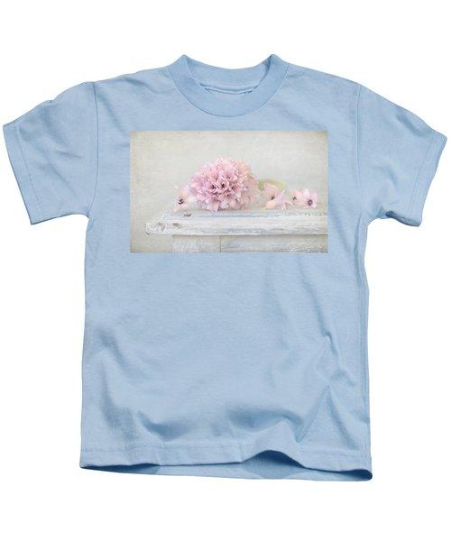 Pastel Pink Hyacinth Kids T-Shirt