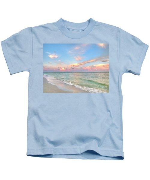 Pastel Sunset On Sanibel Island Kids T-Shirt