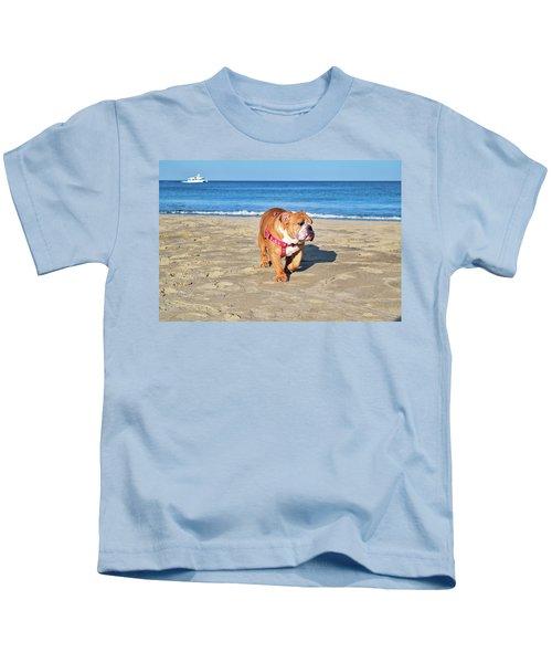 Peanut On The Beach Kids T-Shirt