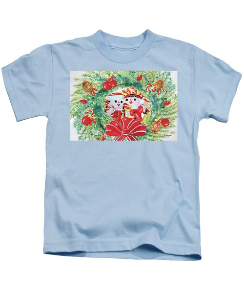 Peek-a-boo Christmas Kids T-Shirt
