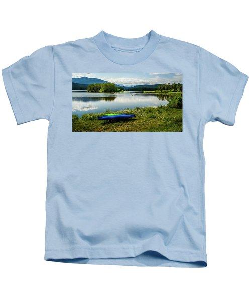 Pelicans At Shadow Mountain Lake Kids T-Shirt